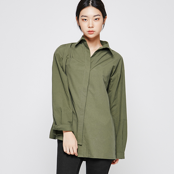 LX (BL-2406) Solid-over-fit Blouse