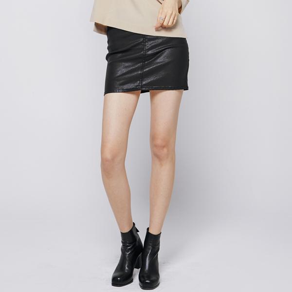 (SK-2449) coating Mini Skirt