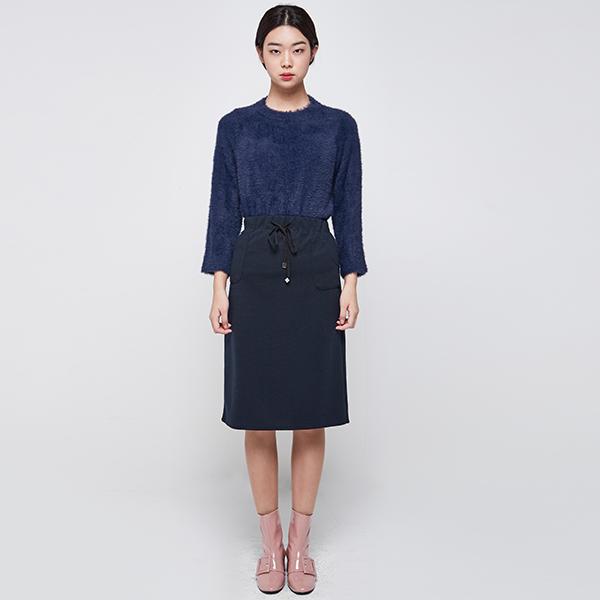 (SK-2476) string Jersey Skirt