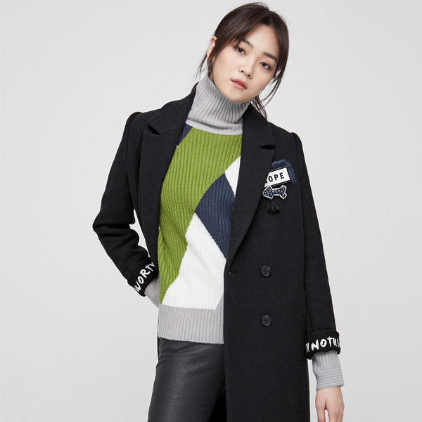 (CT-849) High lettering Coat