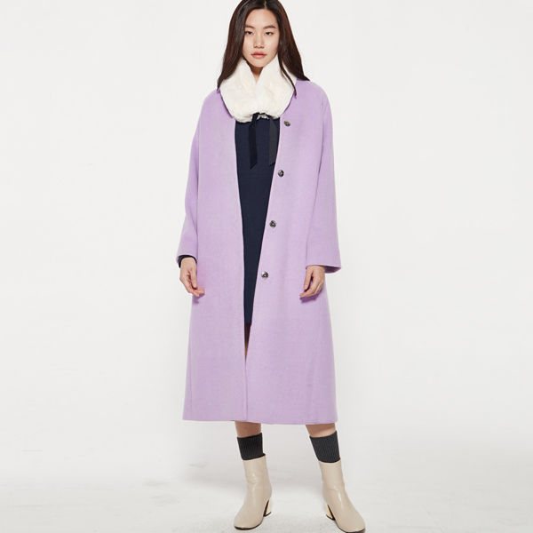 (CT-879) No collar shoulder drop CoatS