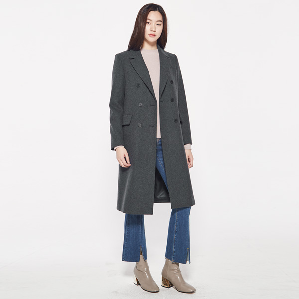 (CT-864) setin sleeve double Coat