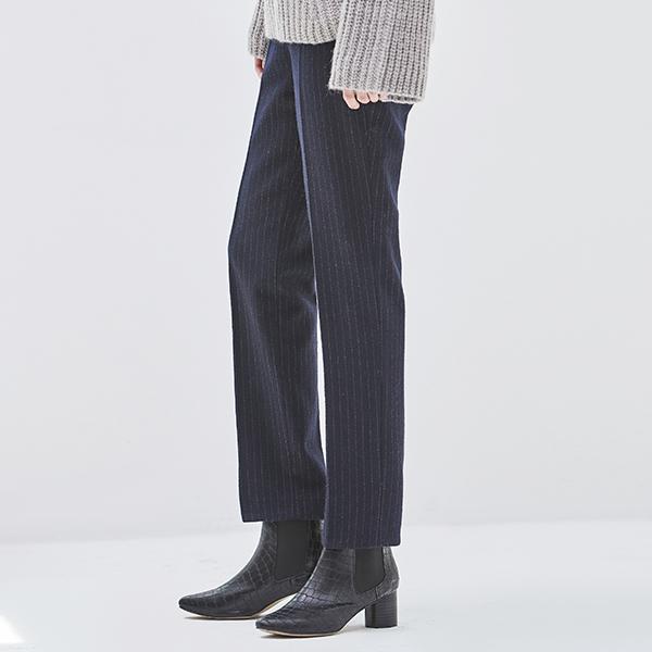 (PT-3091) Wool Stripe Slim Pants