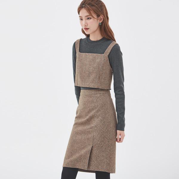 (SK-2720) Check Midi Skirt