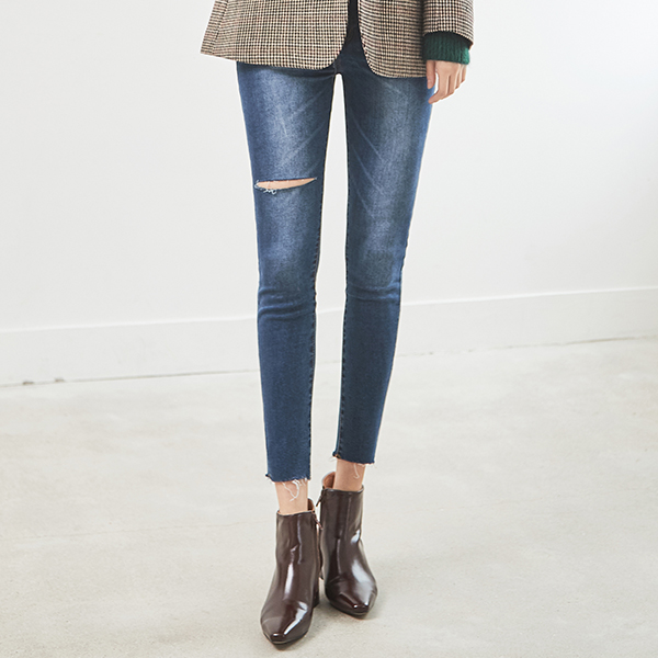(PT-3130) vent key point Skinny Denim Pants