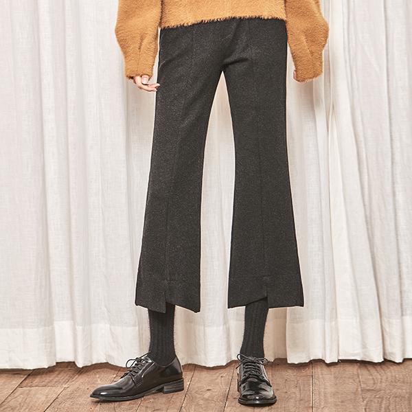 (PT-3143) Boot cut slit Banding Pants