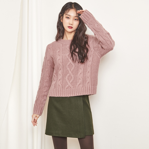 (SK-2735) Unsold Wool Skirt
