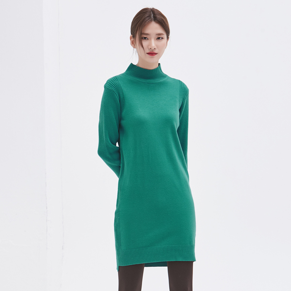 (OP-3483) Semi-cut Soft Knit One Piece