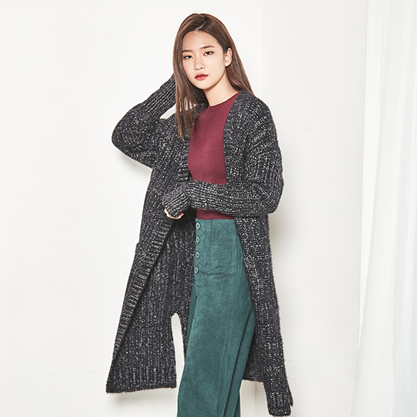 (CD-1092) Bokasi Long Knit Cardigan