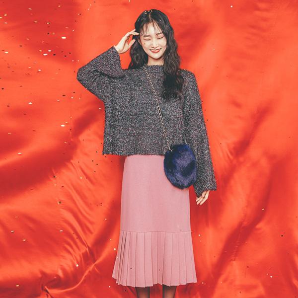 (T-3934) Multi-color knit