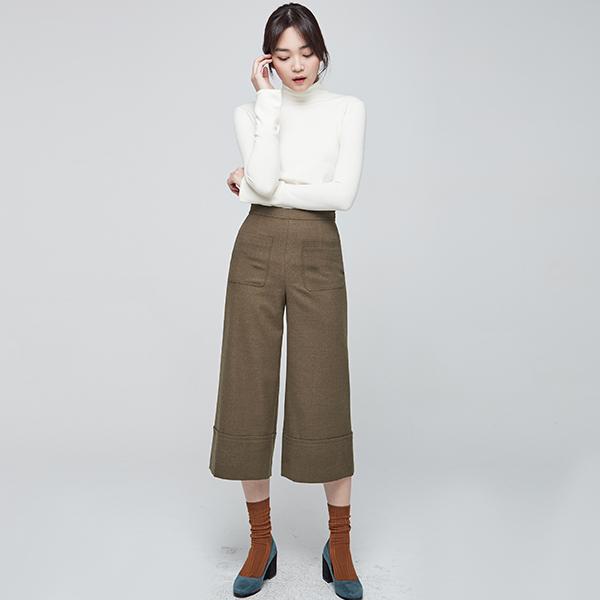 (Q-PT-2786) Poin Turn-up Pants