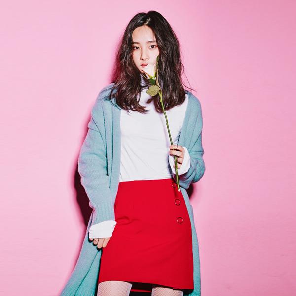 (SK-2506) Big Eyelet Mini Skirt
