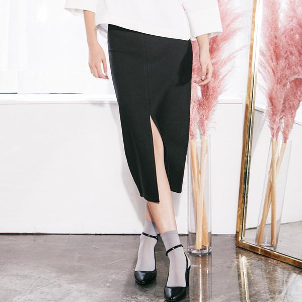 (SK-2589) Slit Long Skirt