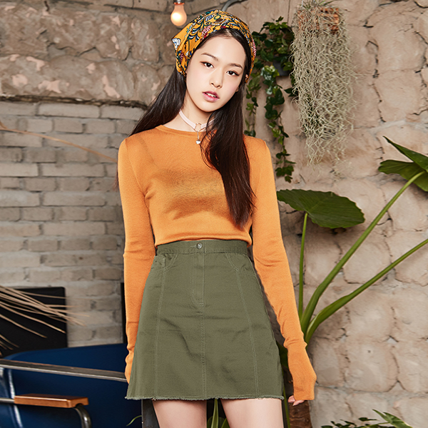 (SK-2525) Casual Aline Skirt