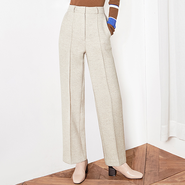(PT-3168) Herringbone wide pants