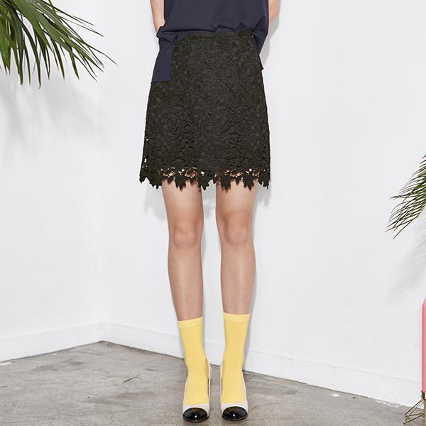 (SK-2517) lace Hline Skirt