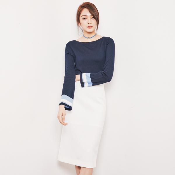 (SK-2490) Long Wrap Skirt