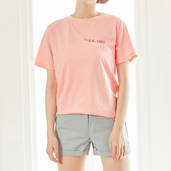(T-3745) Color Lettering Tee