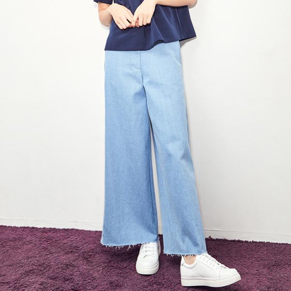 (PT-3219) light Blue Wide Pants