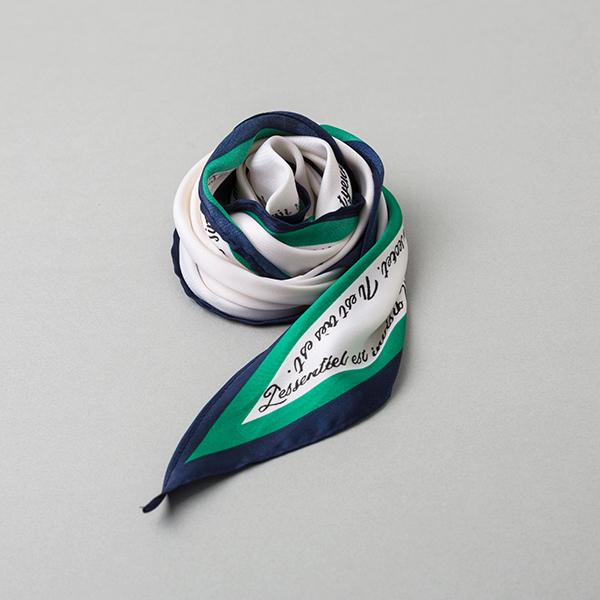 (ETC-2367) rhombic lettering scarf