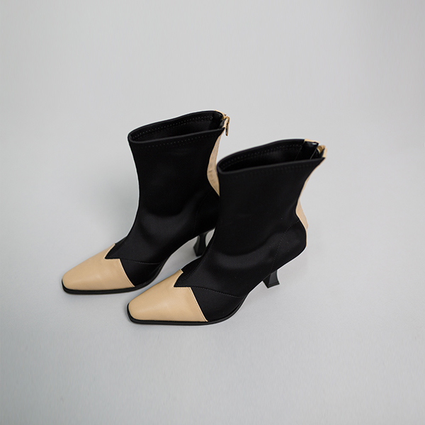 (SH-2512) mix Color ankle boots