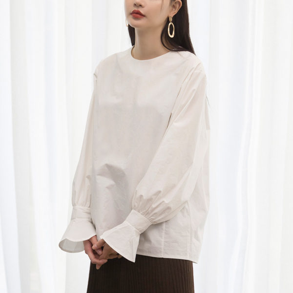 (BL-3156) Sleeved Ruffle Blouse