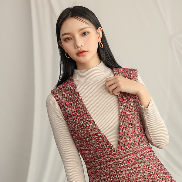 (T-4375) Soft Corrugated Knit Knit