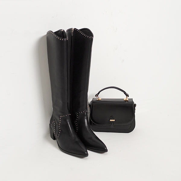 (SH-2538) Stud Western Long Boots