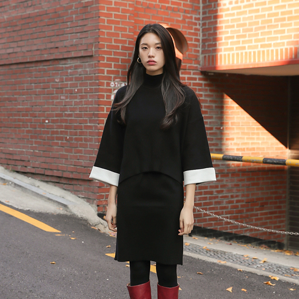 (OP-4130) Retail color combination Knit Tower Skirt SetS