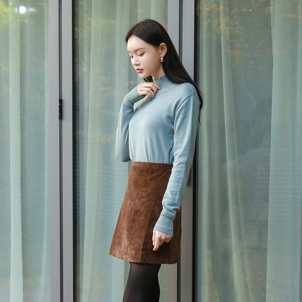 (SK-3221) Suede quality Mini Skirt
