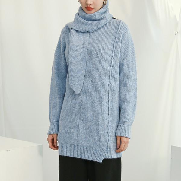 (T-4550) Wool Muffler Set KnitS