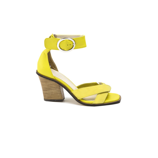 (SH-1949) large Buckle Ankle Strap Sandals