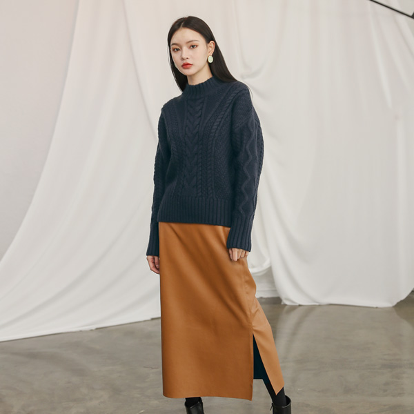 (T-4280) Casual Volume Cable Knit