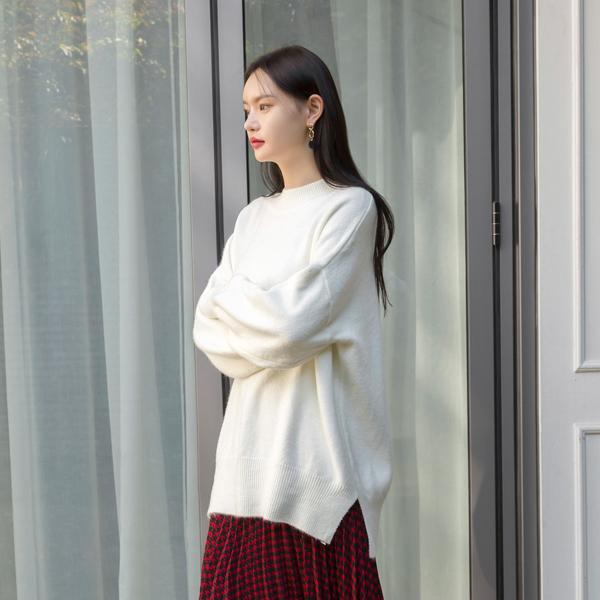 (T-4443) Angora over slit Knit