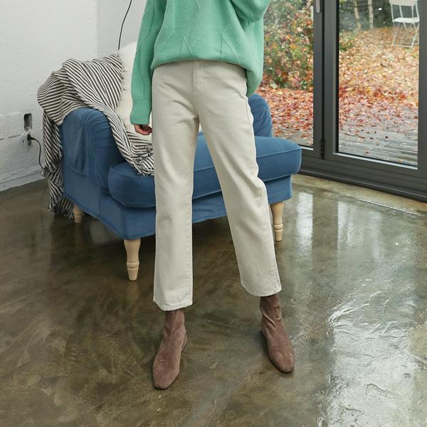 (PT-3630) napping Cream Denim Pants