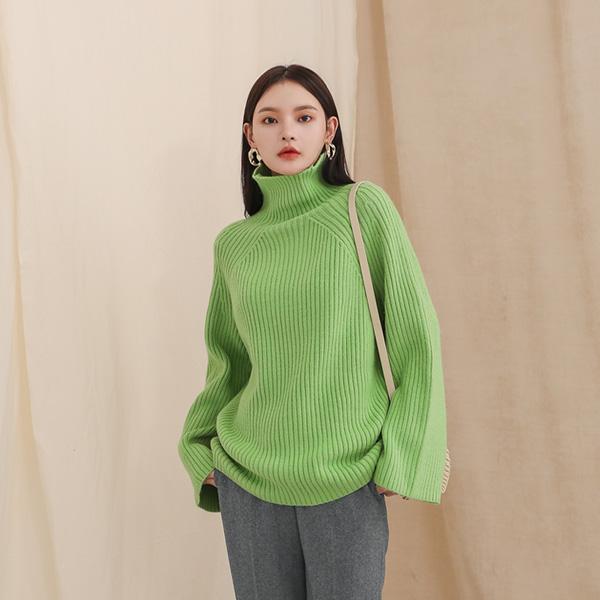 (T-4480) Wool Turtle Knit