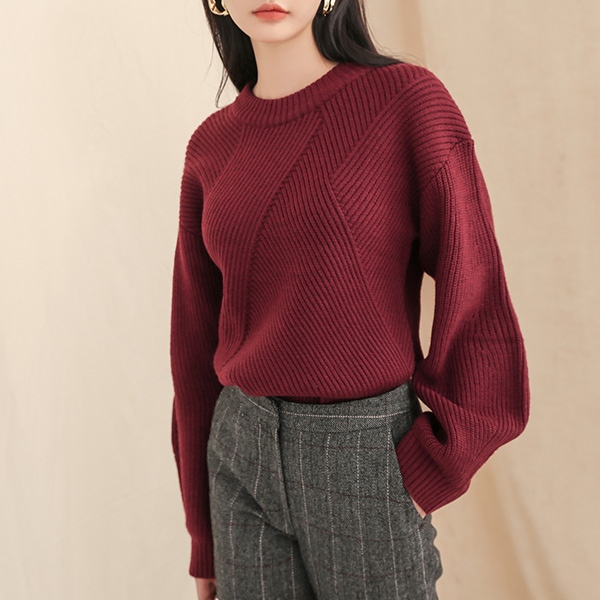 (T-4132) Volume Sleeve Knit
