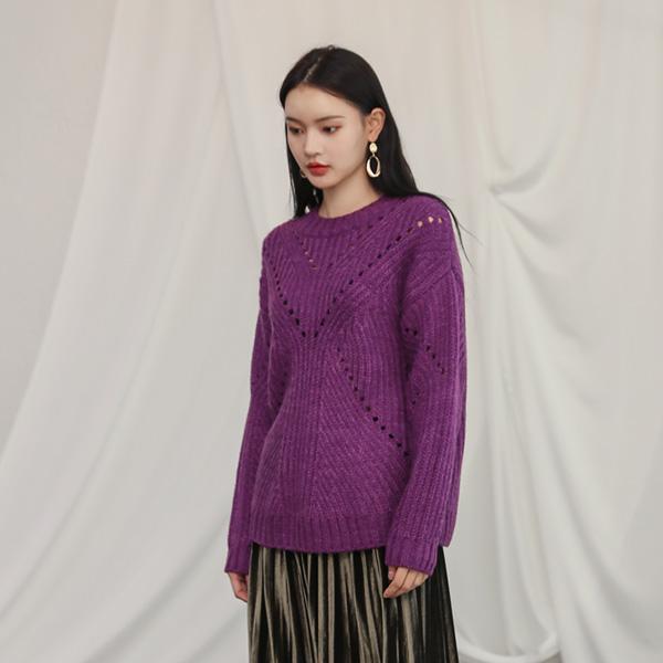 (T-4210) multi skirt Round Knit