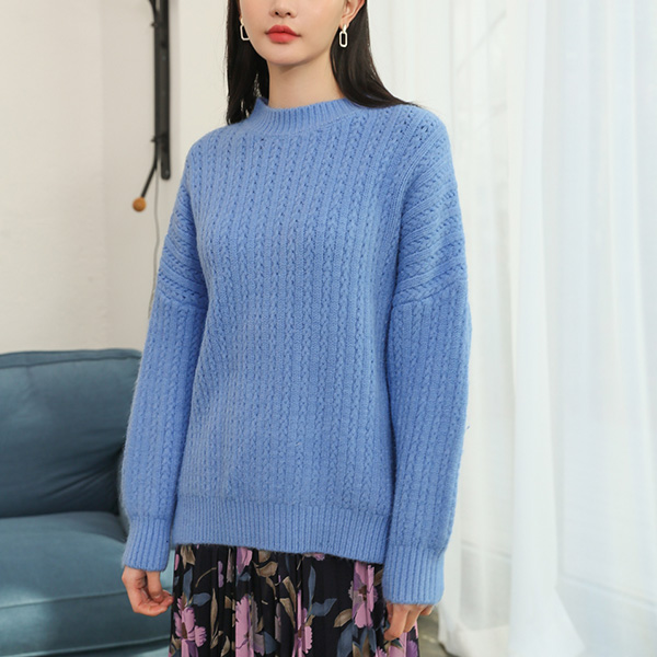 (T-4618) Wool Mini Knitting Round Knit