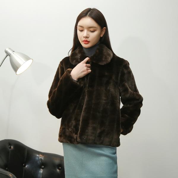 (JK-1944) Black Fake Fur Jacket