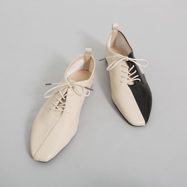 (SH-2601) Harp Color Lace-up Loafers