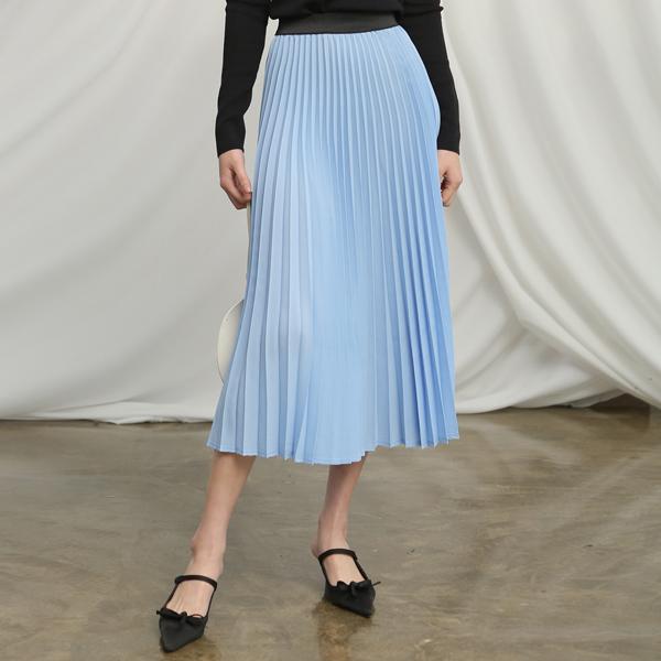 (SK-3345) Spring Pleats Banding Skirt