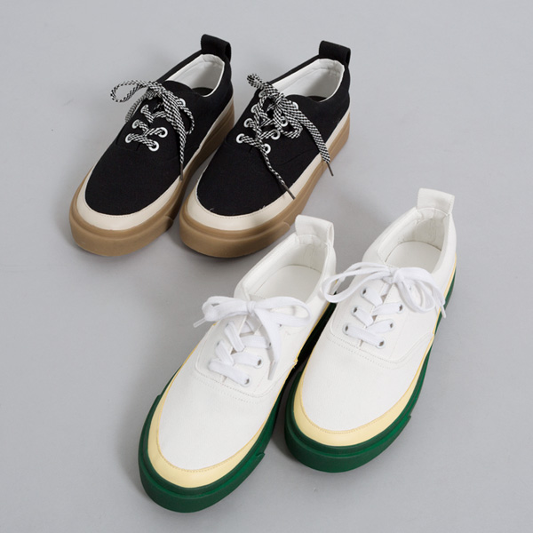 (SH-2612) Lace-up Canvas Sneakers