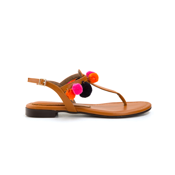 (SH-1962) Pom-Form Ethnic Sandals