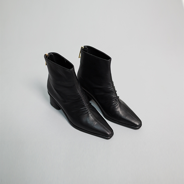 (SH-2511) feminine shirring Ankle Boots