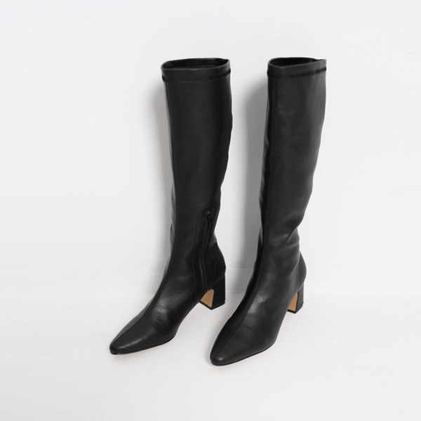 (SH-2527) Span High Leather Boots