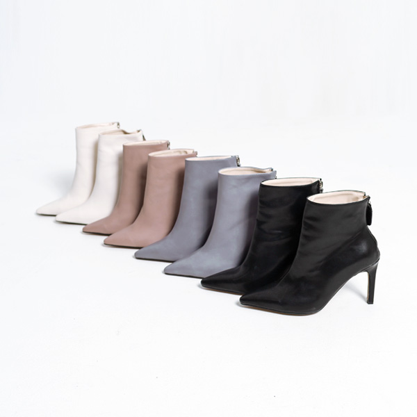(SH-2554) Stiletto Ankle Boots Heel
