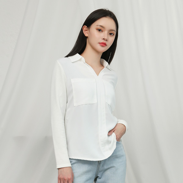 (BL-3209) Fabric unbalance Blouse