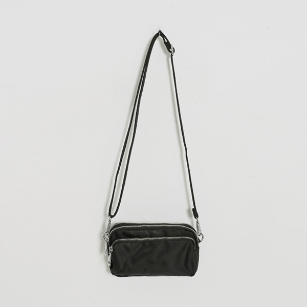 (B-1904) Nylon Mini Shoulder Bag