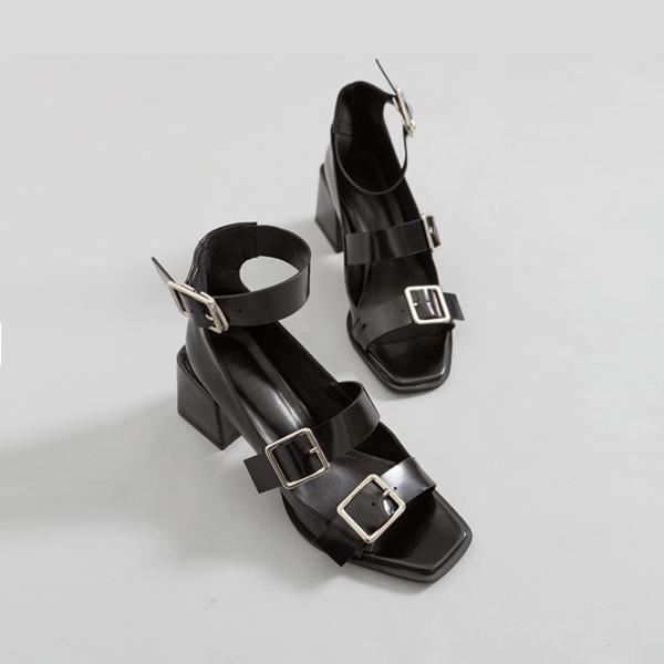 (SH-2617) Belt Gladiator Sandals